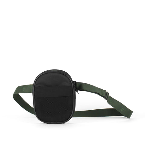 Belt Bag, Black + Green Strap