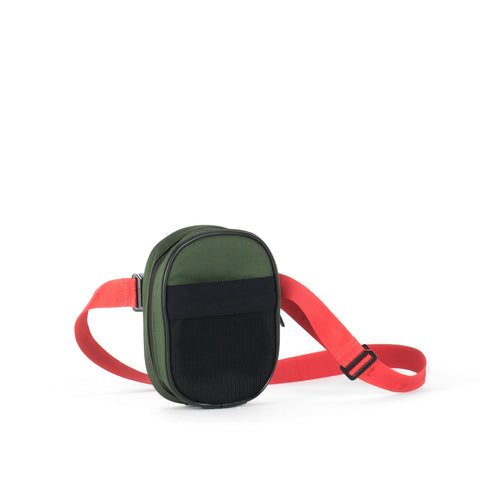 Belt Bag, Green + Coral Strap