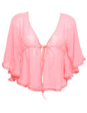 Silk Flounce Sheer Blouse Kaftan (More Colors)