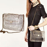 Large Open Cage Chain Bag
