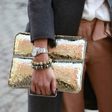 Metal Envelope Clutch