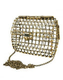 Dotted Open Cage Bag
