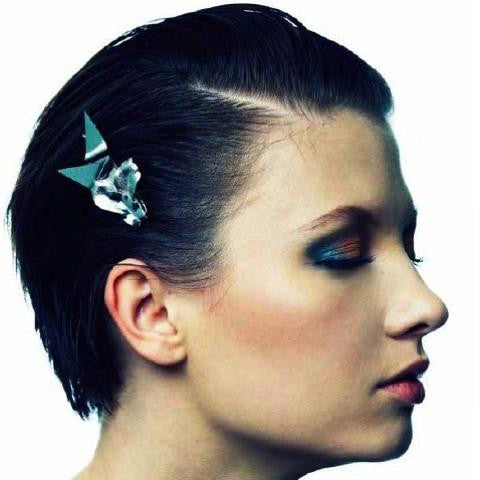 Spiked Metal Orchid Barrette