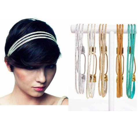 Triple Mini Stud Headwrap