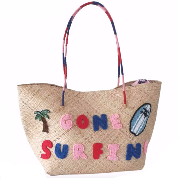 Gone Surfing Beach Tote