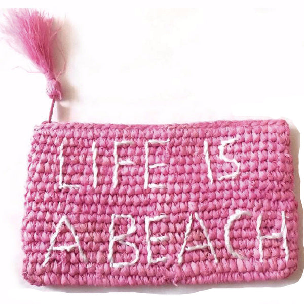 Life is a Beach Zip Pochette