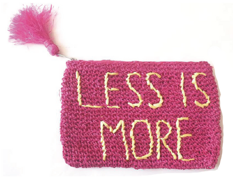 Less is More Mini Zip Pouchette