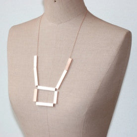 Simple Square Shaped Necklace