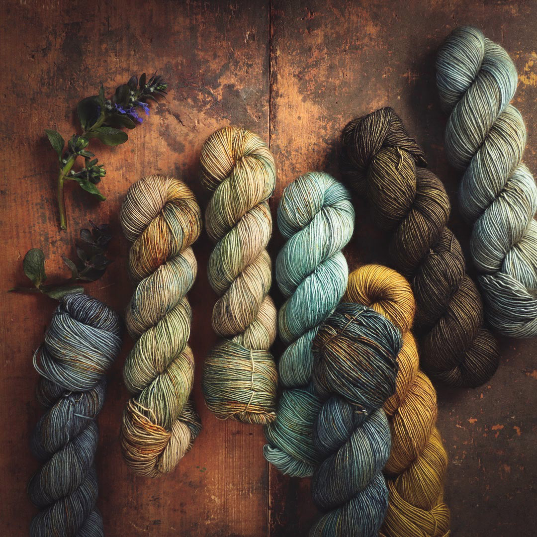 Hand-dyed yarn by Positive Ease