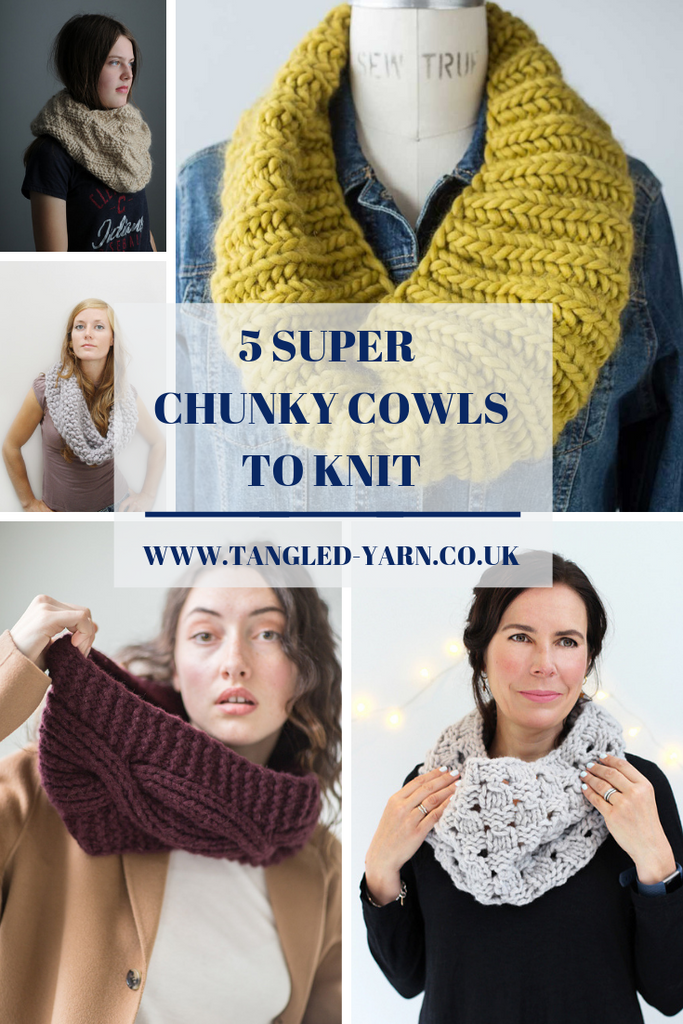 5 Super Chunky Cowls to Knit