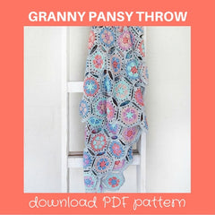 Granny Pansy Throw | Be Inspired | Nurturing Fibres Eco Cotton