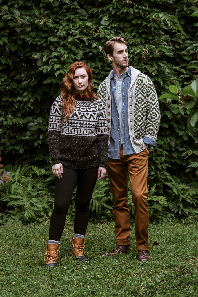 Newbold and Powelton knit in Lucky Tweed
