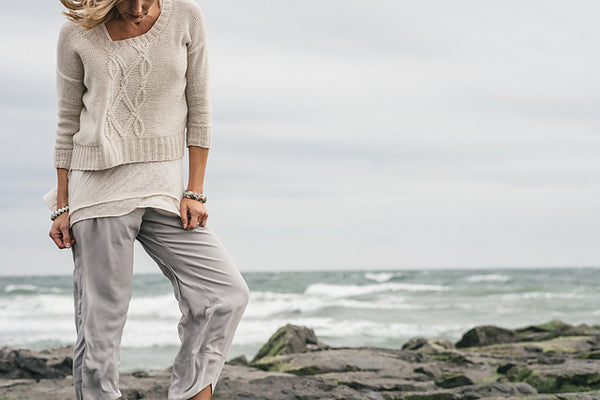 Bennett Creek | Luma Collection | Cropped Cabled Sweater