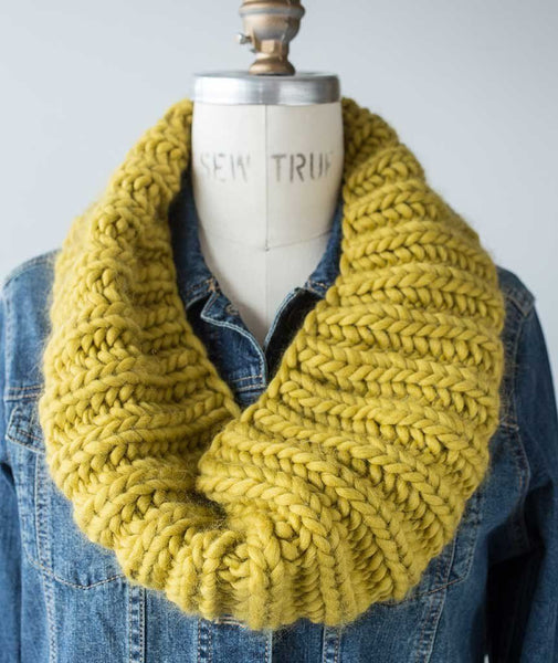 Fisherman's Rib Cowl in Four Gauges