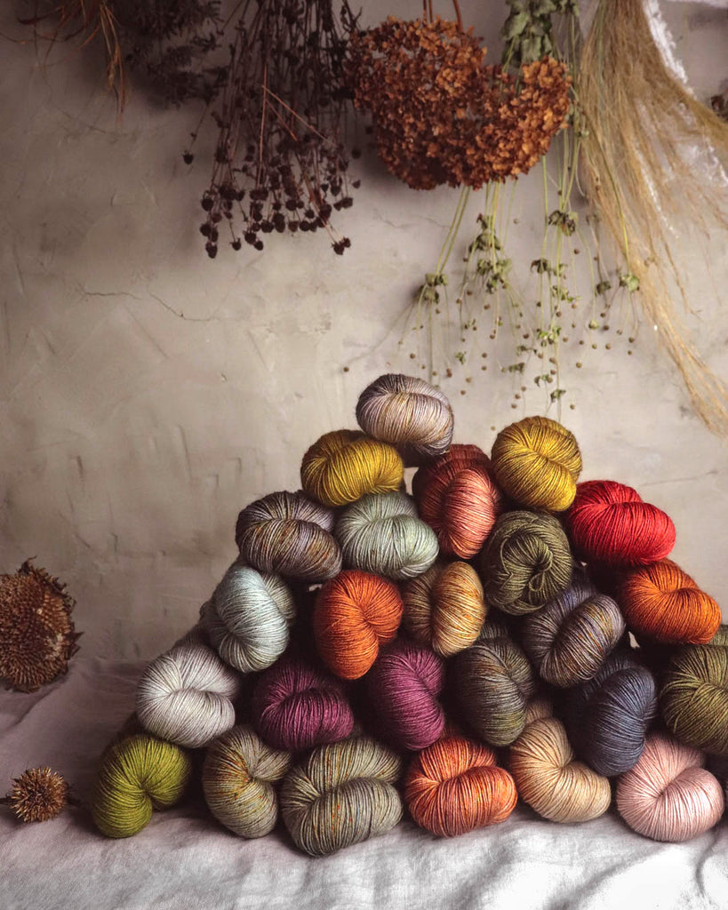 Beautiful hand-dyed yarn by Positive Ease