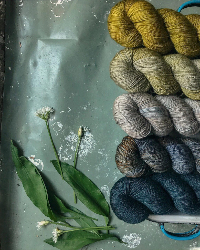 Hand-dyed yarn inspired by nature
