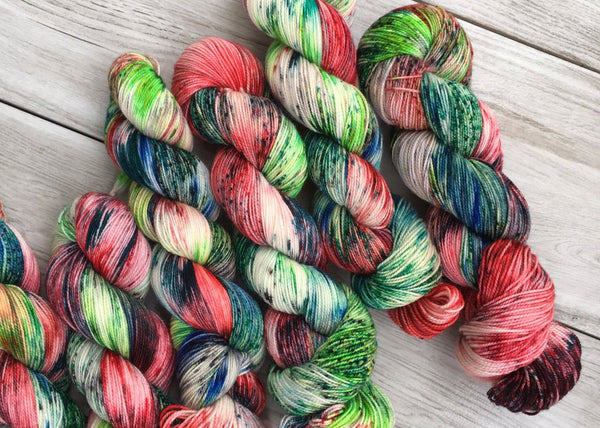 To the Rescue an exclusive colourway in Bouncy Merino