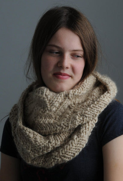 Toffee Cowl by Mrs Moon