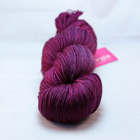 SweetGeorgia Tough Love Sock in Mulberry