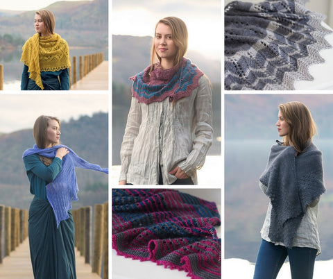 Waves Collection | The Fibre Co. | Six Shawl Patterns