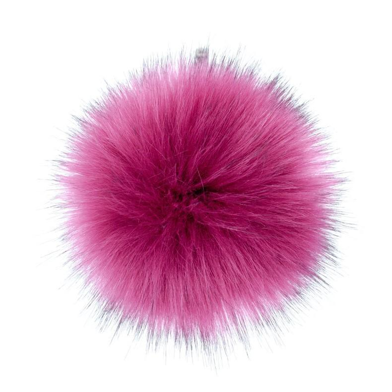 AHEADHUNTER Faux Fur Pom Pom - Fox Magenta - Gifts