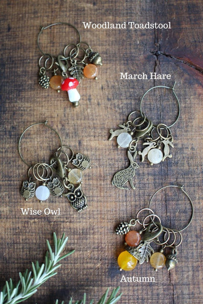 Never Not Knitting Woodland Stitch Markers -  - Tools