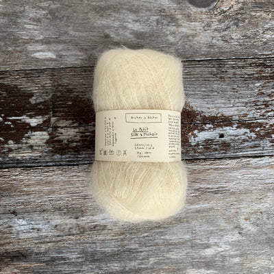 Biches & Bûches Le Petit Silk & Mohair - Off-White - 4ply Knitting Yarn