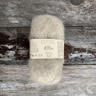 Biches & Bûches Le Petit Silk & Mohair - Grey Beige - 4ply Knitting Yarn
