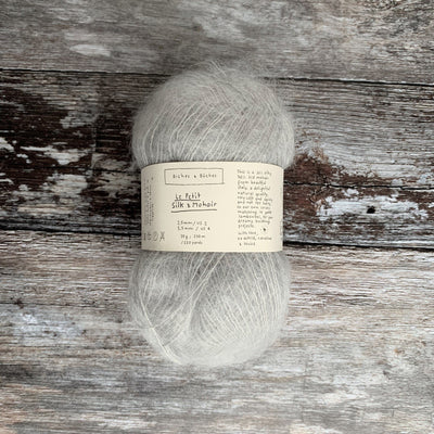 Biches & Bûches Le Petit Silk & Mohair - Light Grey - 4ply Knitting Yarn