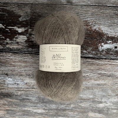 Biches & Bûches Le Petit Silk & Mohair - Grey Brown - 4ply Knitting Yarn
