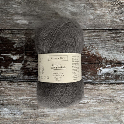 Biches & Bûches Le Petit Silk & Mohair - Medium Grey - 4ply Knitting Yarn