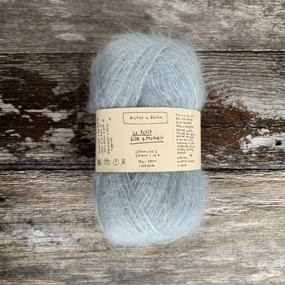 Biches & Bûches Le Petit Silk & Mohair - Very Light Blue - 4ply Knitting Yarn