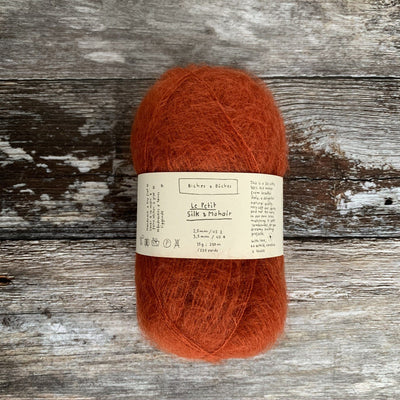 Biches & Bûches Le Petit Silk & Mohair - Dark Orange Grey - 4ply Knitting Yarn