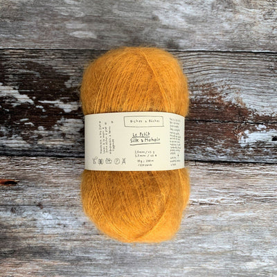Biches & Bûches Le Petit Silk & Mohair - Yellow Mustard - 4ply Knitting Yarn