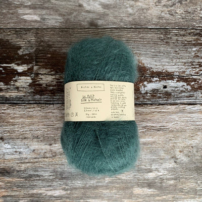 Biches & Bûches Le Petit Silk & Mohair - Blue Green - 4ply Knitting Yarn