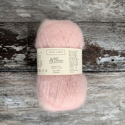 Biches & Bûches Le Petit Silk & Mohair - Very Light Pink - 4ply Knitting Yarn