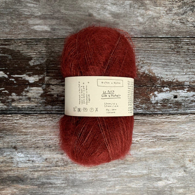 Biches & Bûches Le Petit Silk & Mohair - Dark Red - 4ply Knitting Yarn