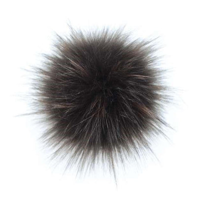 AHEADHUNTER Faux Fur Pom Pom - Raccoon Brown - Gifts
