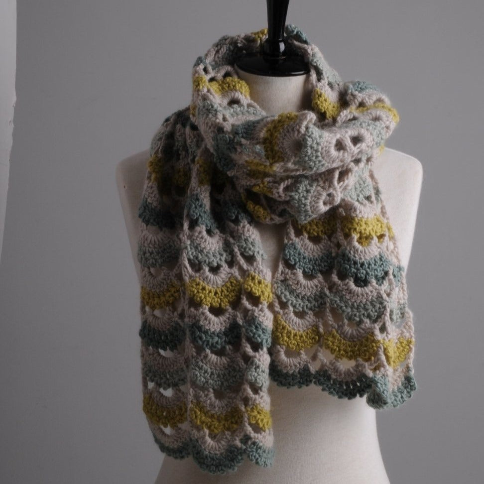 Mrs Moon Lace Plump Scarf [Crochet Pattern] -  - Crochet Pattern
