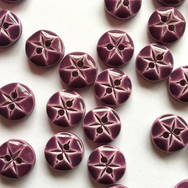 TextileGarden 10mm - Amethyst Glossy Button -  - Buttons