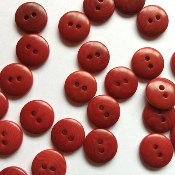TextileGarden 12mm - Red Corozo Button -  - Buttons