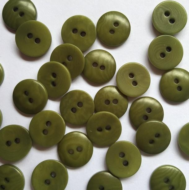 TextileGarden 12mm - Forest Green Corozo Button -  - Buttons
