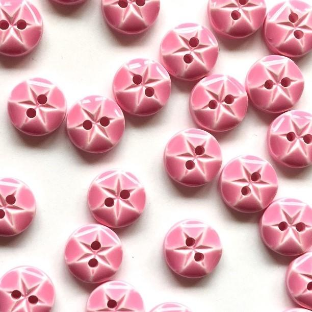 TextileGarden 10mm - Pink Glossy Button -  - Buttons
