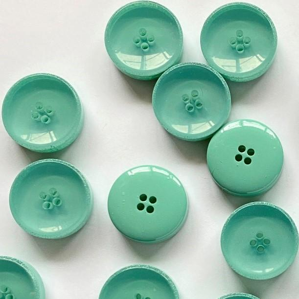 TextileGarden 15mm - Opaque & Glossy Turquoise Button -  - Buttons