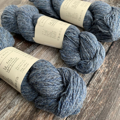 Biches & Bûches Le Petit Lambswool - Blue Grey - 4ply Knitting Yarn
