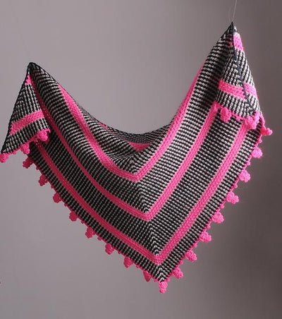 Mrs Moon Brighton Rock Shawl [Crochet Pattern] -  - Crochet Pattern