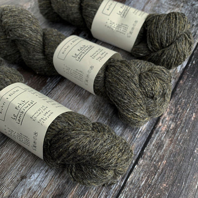 Biches & Bûches Le Petit Lambswool - Dark Grey Brown - 4ply Knitting Yarn