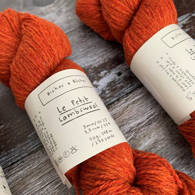 Biches & Bûches Le Petit Lambswool - Dark Orange Grey - 4ply Knitting Yarn