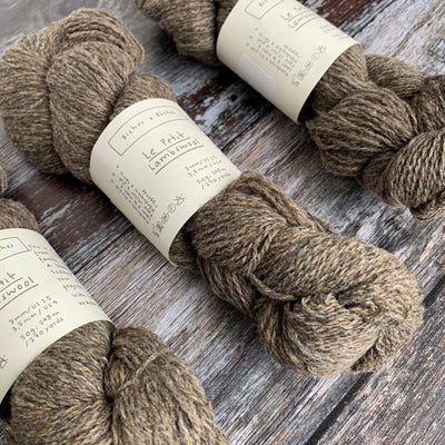 Biches & Bûches Le Petit Lambswool - Grey Brown - 4ply Knitting Yarn