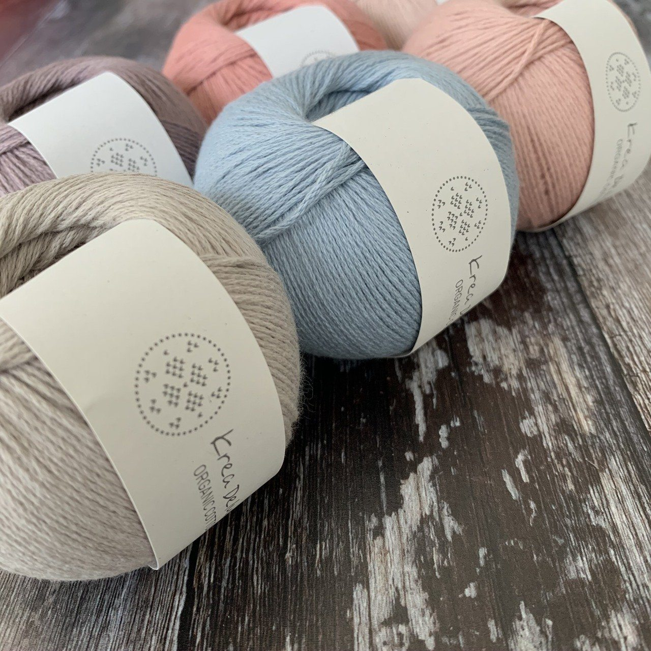 Krea Deluxe Krea Deluxe Organic Cotton -  - 4ply Knitting Yarn